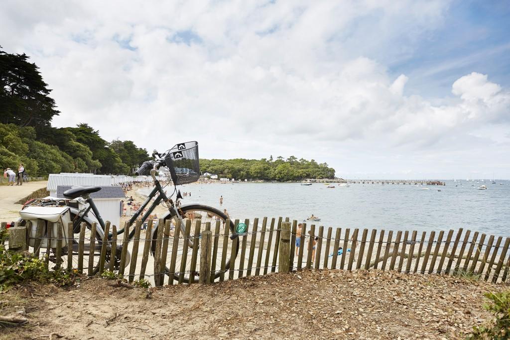 Noirmoutier à velo près de l'estacade