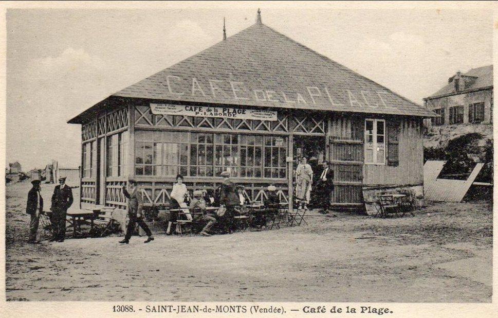 café de la plage st jean CPA N°13088